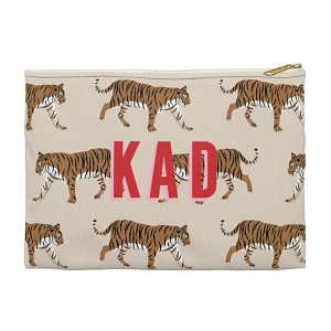 Monogrammed Clutch - Tiger Natural (Large)